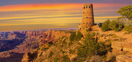 Panorama of the Indian Watchtower at Desert View Point photo