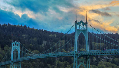Beautiful Image of Saint Johns Bridge in Portland, Oregon