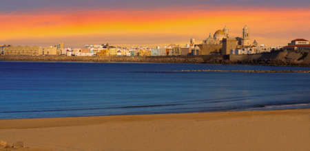 cadiz: Panoramic view of the Cathedral Campo del Sur in Cadiz, Spain.