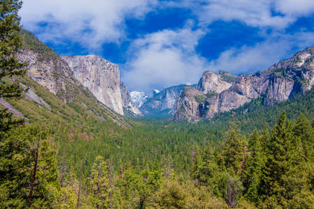 granite park: A Beautiful Summer Vista of El Capitan in Yosemite National Park