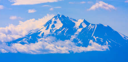 mount: Beautiful Summer Time Image of Mt. Shasta in California. Stock Photo