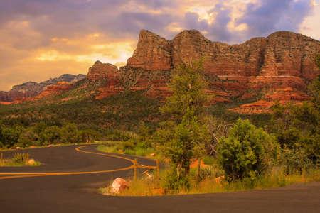arizona scenery: Beautiful Sunset Scenery of Sedona, Arizona