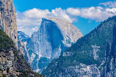 half dome: A Beautiful Summer Vista of El Capitan in Yosemite National Park