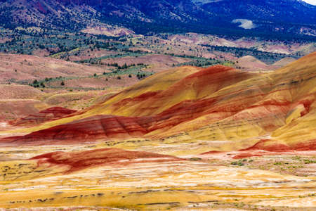Beautiful Image of Painted Hills National Monument in Oregon, USA Stock fotó