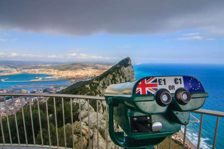 sea beach: Amazing Vista from the top of the Rock of Gibraltar
