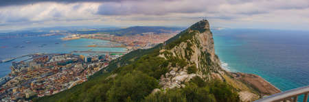 gibraltar: Amazing Vista from the top of the Rock of Gibraltar