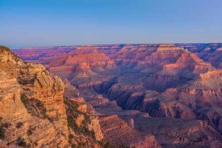 Verbazend Susnrise Afbeelding van de Grand Canyon genomen van Mather Point Stockfoto