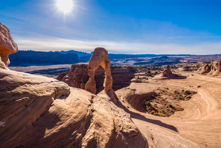 arches national park: Beautiful Image taken at Arches National Park in Utah Stock Photo