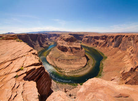 Daytime Image of the Horseshoe Bend in Page Arizona Imagens