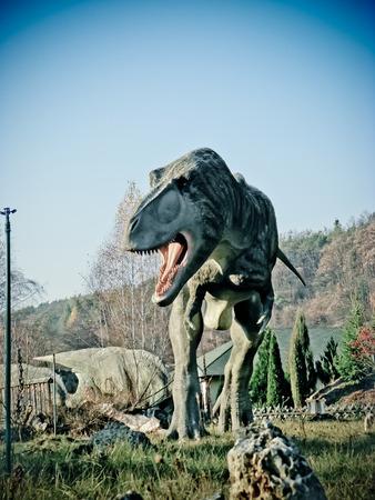 tiranosaurio rex: Modelo grande de Tyrannosaurus rex Foto de archivo