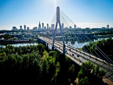 Ansicht von Warschau aus der Luft