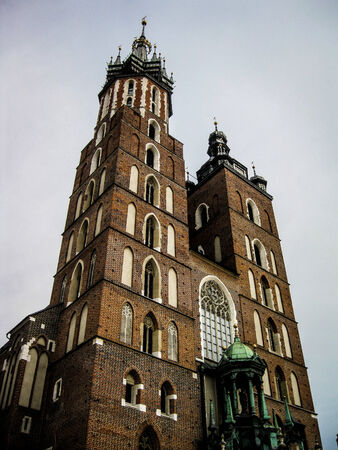 Old church in Cracow. photo