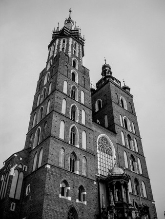 Old church in Cracow. Black and white version. photo