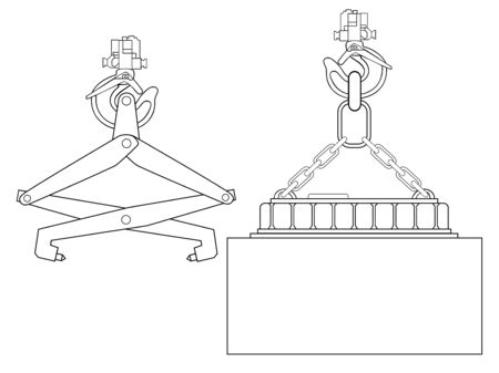 Devices for lifting goods. Crane hook. Construction machinery. Industrial equipment.