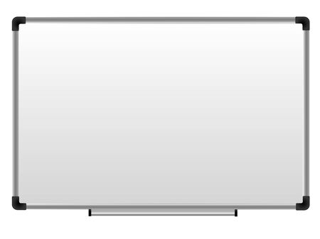 Whiteboard, office marker board, magnetic whiteboard for school or office. Board for graphs, magnets, lists and stickers. mock up. Copy space