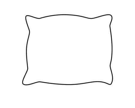 Cuscino. Abito da letto. Cuscini di disegno lineare vettoriale per la colorazione. Schema di disegno a mano.