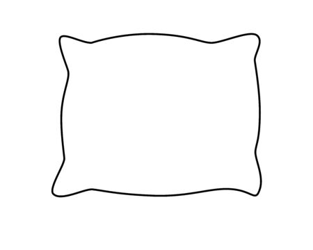 Pillow. Bed dress. Vector linear drawing pillows for coloring. Outline Hand drawing.
