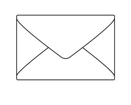 The envelope. Linear vector illustration for coloring - envelope. Outline Hand drawing. Archivio Fotografico - 139080084
