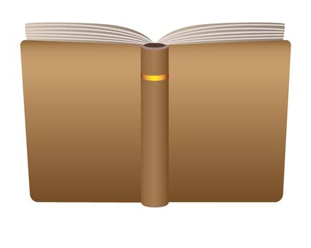 Open book cover - background for your text or images. Vector mocap - cover of an open book. Template - open blank diary or notebook cover to the viewer. Vector Background for your content. Copy space Archivio Fotografico - 139822413
