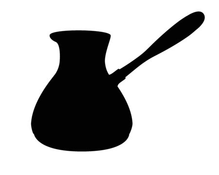 Coffee cezve silhouette. Cookware for making coffee