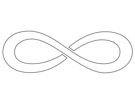 Infinity sign - vector linear picture for coloring book  or pictogram. Infinity symbol is a sign or icon. Outline.