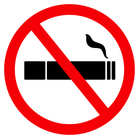 no smoke sign icon Vector illustration.
