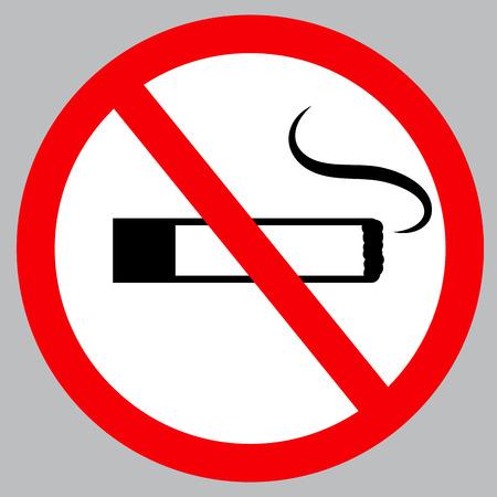 no smoke sign icon Vector illustration.