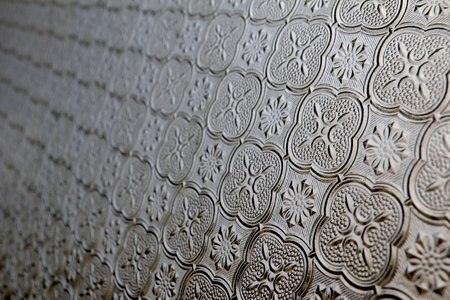 frosted glass: Antique window glass pattern for background Stock Photo