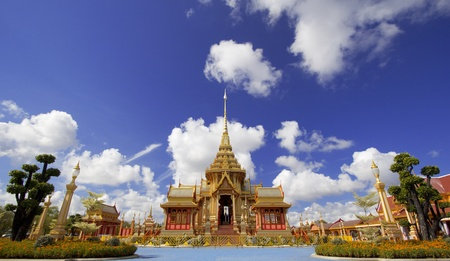 rajasuda: Landscape of front crematorium for funeral ceremony of HRH Princess Bejaratana Rajasuda in Sanam Luang