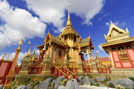 bejaratana: Landscape of front crematorium for funeral ceremony of HRH Princess Bejaratana Rajasuda in Sanam Luang