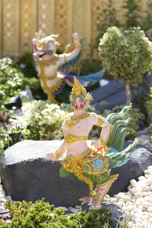 himmapan: Mythical Himmapan Creature fairy tales decorate in royal crematorium for funeral ceremony of HRH Princess Bejaratana Rajasuda in Sanam Luang