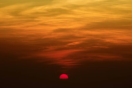 clound: Beautiful Sky Glory Red Sunset Sunrise at High point of view Stock Photo