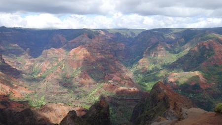 Waimea Canyon under heavy clouds (Kauai, HI, USA) Banco de Imagens