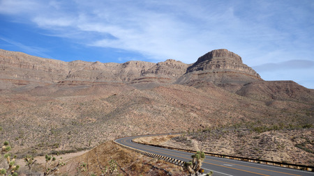 The road to Grand Canyon West Rim (AZ, USA)