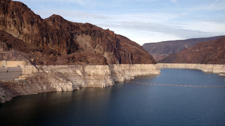 The water reservoir behind Hoover Dam (NV, AZ, USA)