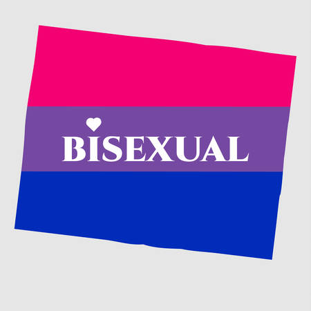 bisexuality: Bisexual gay pride LGBT flag flat icon. Vector illustration EPS10 for gay-pride design banners, clothes, T-shirt. Bisexuality community.