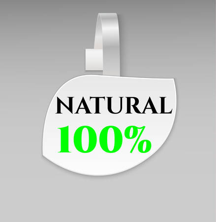 advertising wobbler: Vector blank shape white leaf eco natural paper plastic advertising price wobbler front view. Isolated on background. Advertising price stickers for organic natural food and goods.Vector illustration
