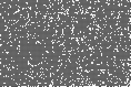 Pixel Abstract Mosaic Design Texture. Monochromatic Abstract Background. Vector Illustration.