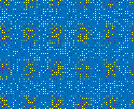 vector raster background: Abstract Colorful square blue and yellow Background with Mosaic Shapes. Vector Illustration.