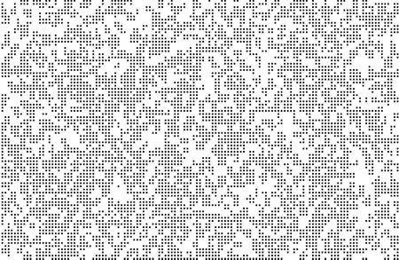 Pixels texture. Pixel Abstract Mosaic Gradient Design Background. Monochromatic Abstract Background Isolated on white. Vector Illustration.