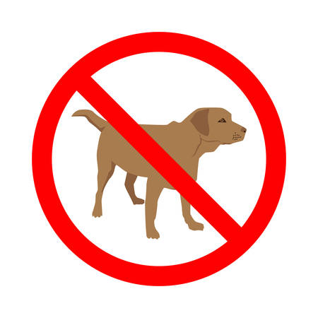 No dogs allowed sign.