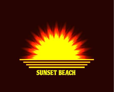 Shining sun icon.