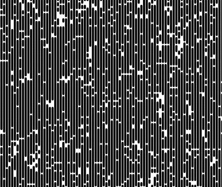 Monochromatic abstract background. Distortion texture, random vertical black and white lines for design concepts, posters, wallpapers, web, presentations, prints. Vector illustration.