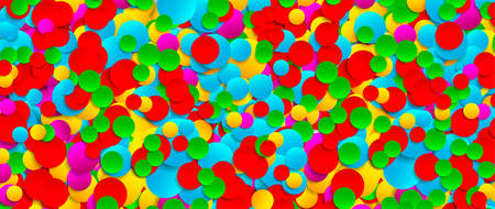 Multicolored festive paper confetti background. Vector illustration for decoration of holidays, postcards, posters, websites, carnivals, birthday parties