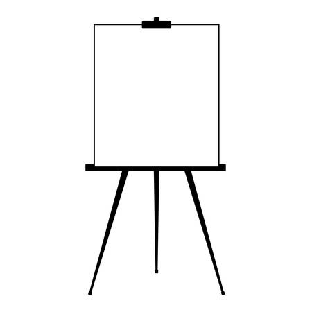 Advertising stand or flip chart or blank artist easel isolated on white background. Presentation blank white board for conference. Vector illustration