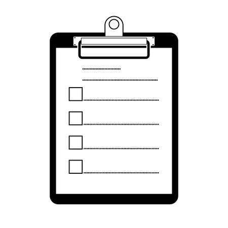 Clipboard with checklist symbol vector illustration on white background.