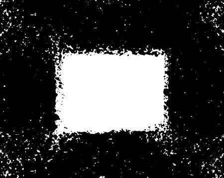 Grunge poster. Modern design with spray black ink splash brushes ink droplets blots. Black splash on white background. Vector illustration grunge frame with space for your advertising offer