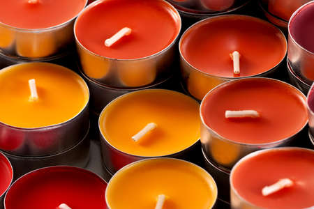 colored candles, closeup