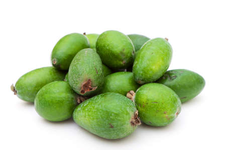 photo of feijoa, close-up, on white background photo