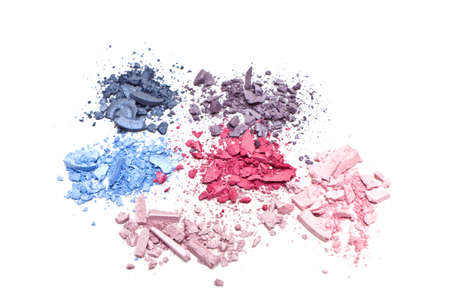 photo of eyeshadow on white background, close-up